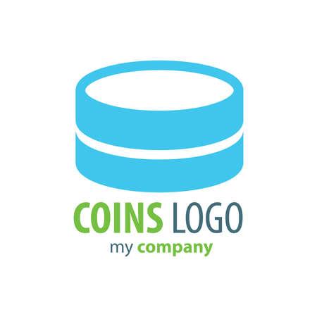 accumulate: Logo Coins green color