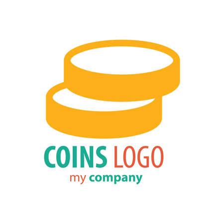 accounting logo: Logo Coins design yellow color
