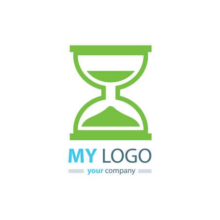 logo design clessidra colore verde Logo