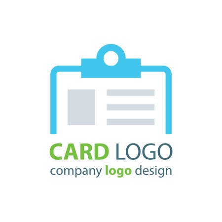 contact details: card logo blue color Illustration