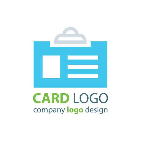 credit card business woman: card logo design blue color