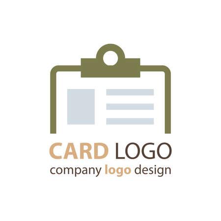 licence: card logo green color Illustration