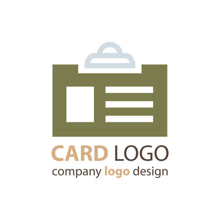 contact details: card logo design green color