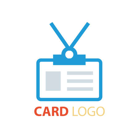 credit card business woman: card logo vector blue color