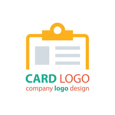 contact details: card logo orange color Illustration