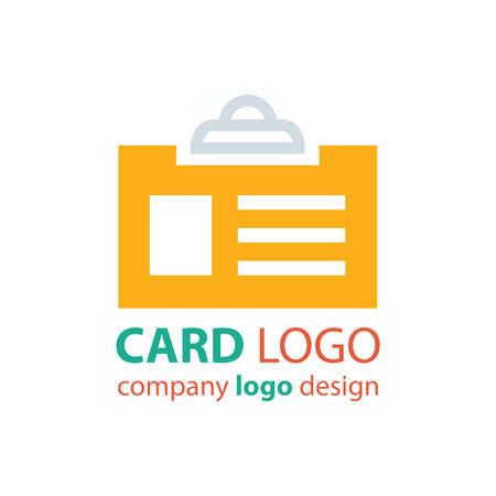 licence: card logo design orange color