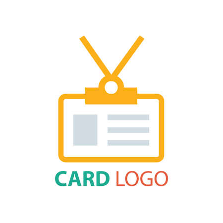contact details: card logo vector orange color