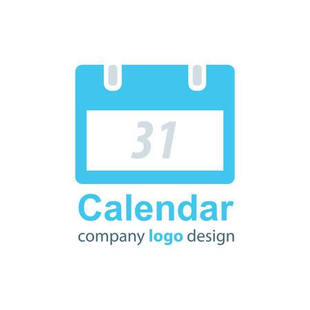 calendar design: calendar logo design  blue style