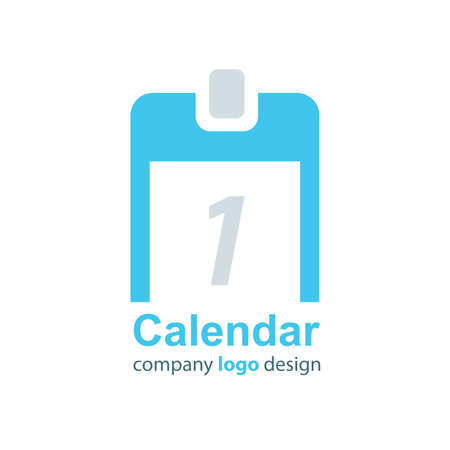 calendar design: design calendar logo blue style Illustration