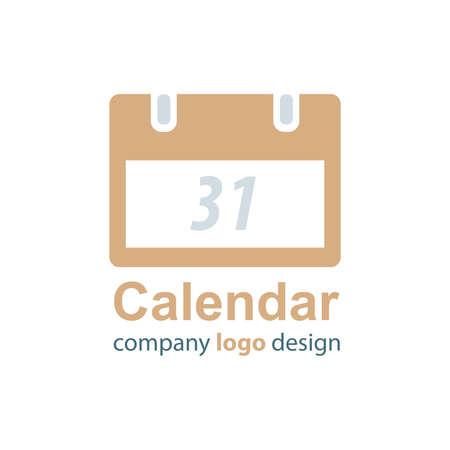 calendar design: calendar logo design brown style