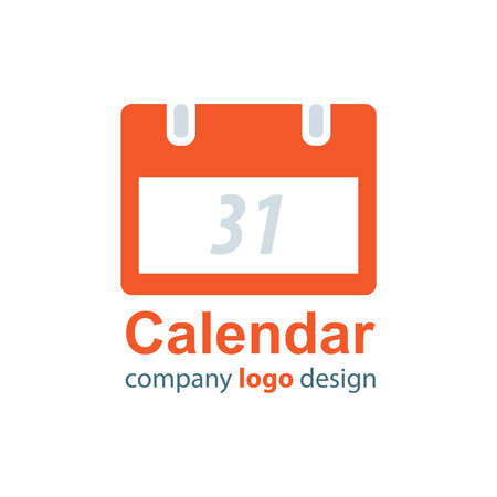 calendar design: calendar logo design  orange style Illustration