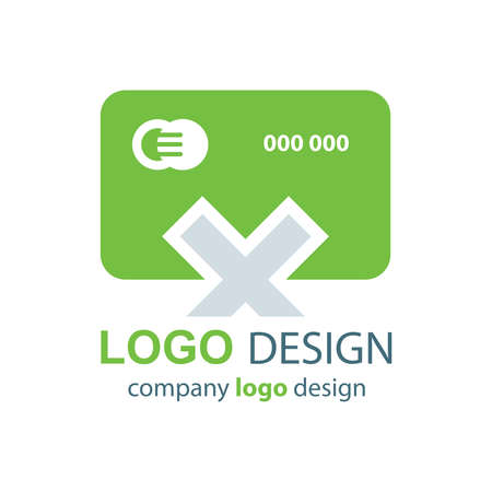 transact: design card logo  green design