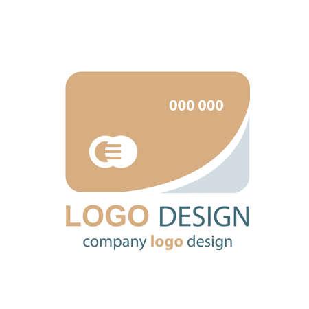 transact: card logo design brown design