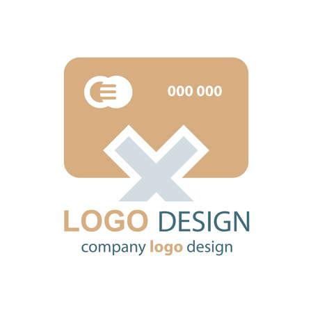 transact: design card logo  brown design