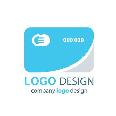 transact: card logo  blue design