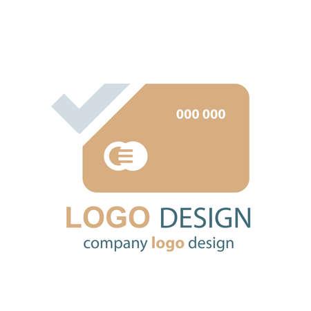 transact: card logo vector brown design