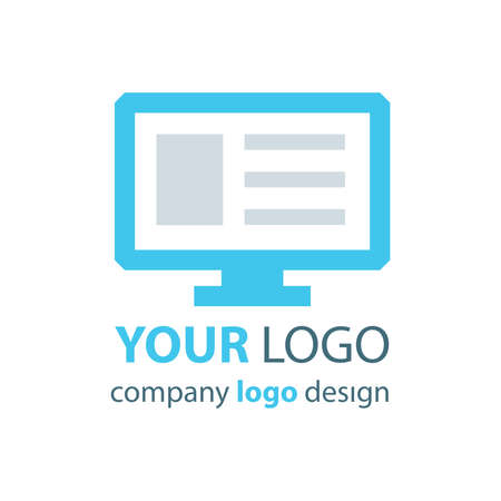 logo: computer logo blue logo Illustration