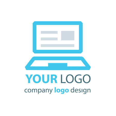 logo: laptop logo blue logo Illustration