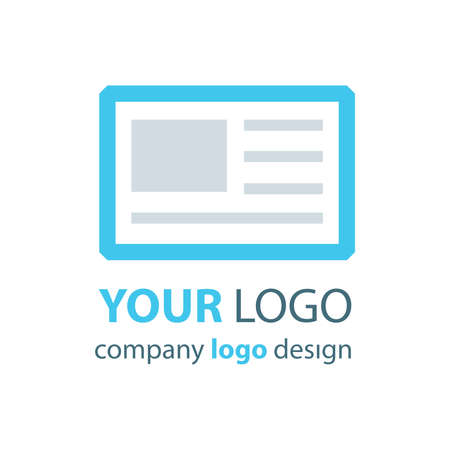 logo: tablet logo blue logo Illustration