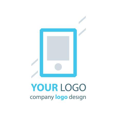 phone logo: phone logo blue logo