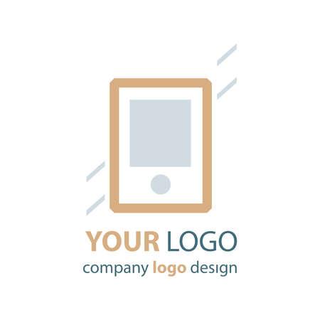 phone logo: phone logo brown