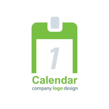 calendar design: design calendar logo green style Illustration