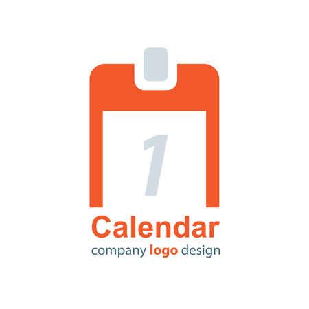 calendar design: design calendar logo orange style Illustration