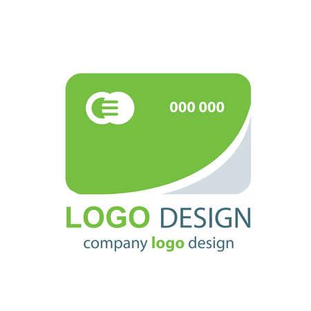 transact: card logo green design