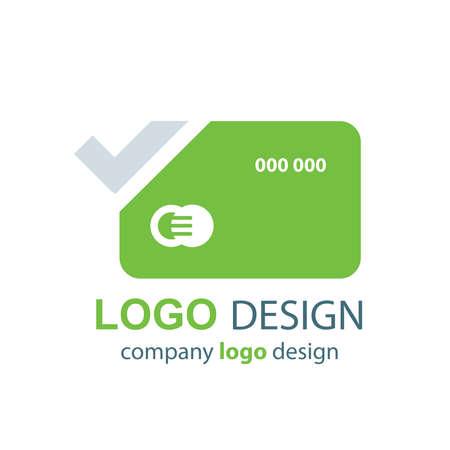 transact: card logo vector green design