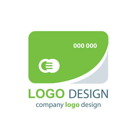 transact: card logo design green design