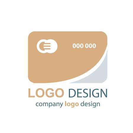 transact: card logo  brown design Illustration