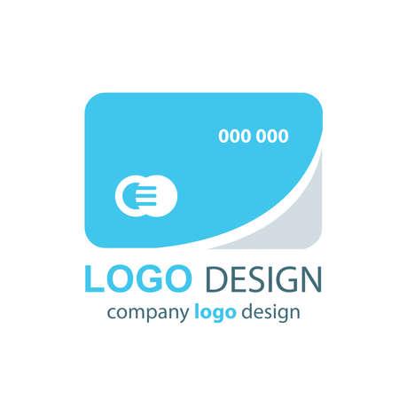 transact: card logo design blue design