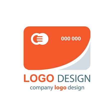transact: card logo  orange design