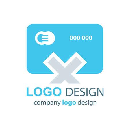 transact: design card logo  blue design Illustration