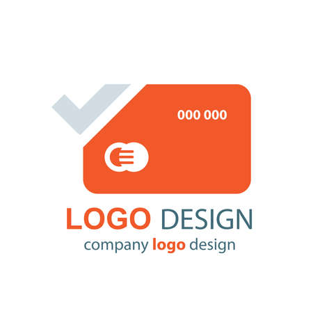 transact: card logo vector orange design
