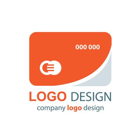 transact: card logo design orange design Illustration