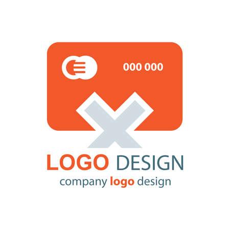 transact: design card logo orange design