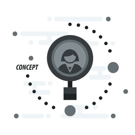 look: Magnifying Glass concept look woman black Illustration