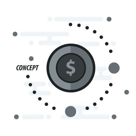 accumulate: coin concept black