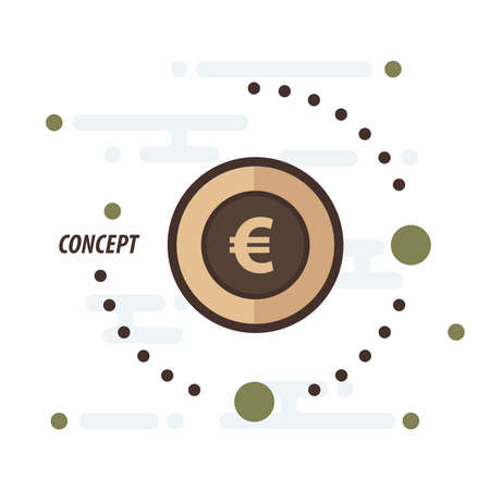 accumulate: euro coin concept brown