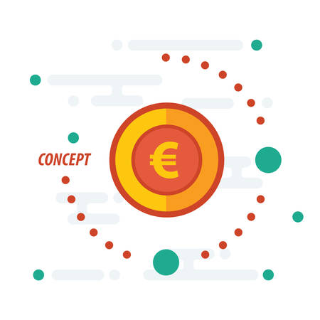 accumulate: euro coin concept yellow Illustration