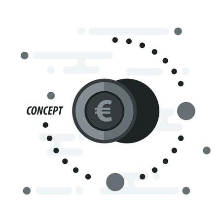 accumulate: 2 euro coin concept black