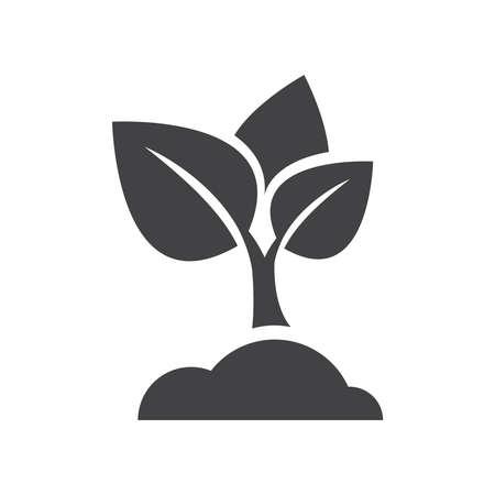 sapling: sapling icon vector Illustration