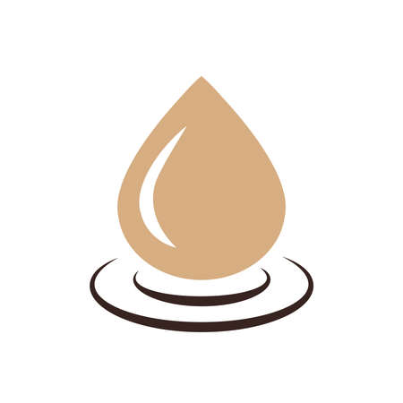condensation on glass: drop of water icon  vector brown color