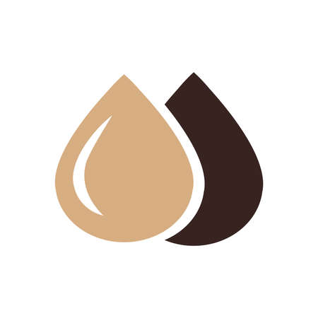 condensation on glass: drop of water icon design brown color