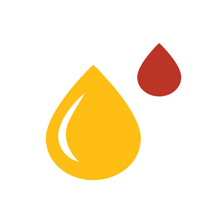 raindrop: design drop of water icon yellow and red color