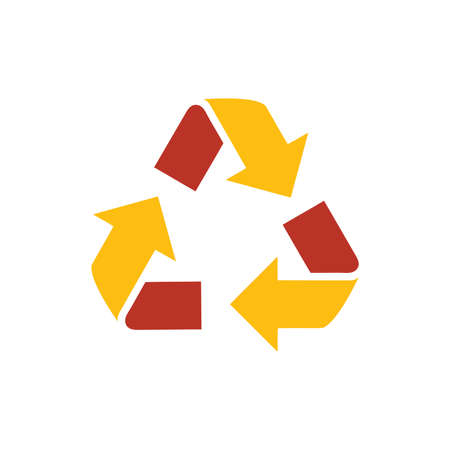 refresh icon: design Refresh Icon  yellow and red color