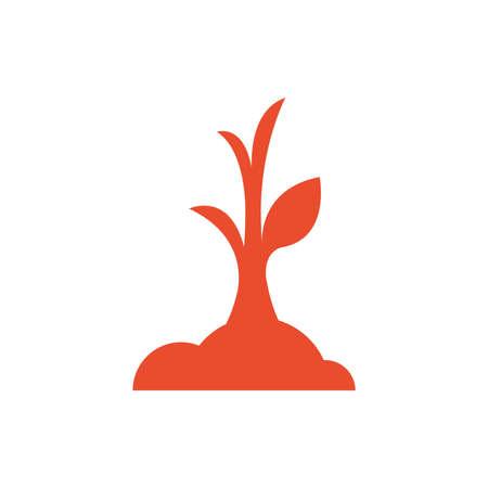 sapling: sapling icon orange color Illustration