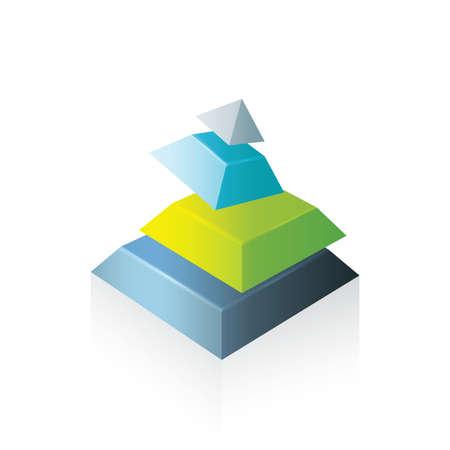 transform: pyramid abstract transform green blue gray color