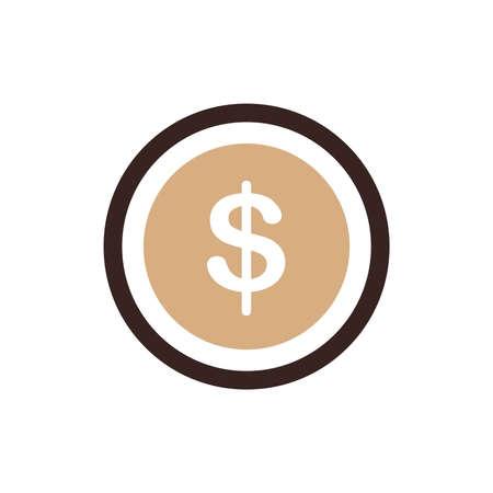 accumulate: Design Coin Flat icon Illustration